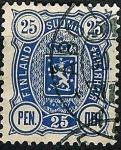 Sellos de Europa - Finlandia -  Escudo.Valor en PEN