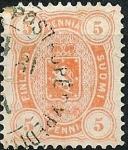 Sellos de Europa - Finlandia -  Escudo.Valor en pennia-penni
