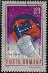 Stamps Romania -  1967 10 Aniversario Spoutnik 1: Early Bird