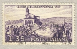 Stamps Italy -  Centenario della II guerra d'Indipendenza  Garibaldini alla battaglia di san Fermo