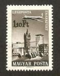 Stamps Hungary -  avión sobrevolando Frankfurt