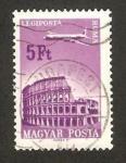Sellos de Europa - Hungría -  avión sobrevolando roma