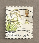 Stamps Malaysia -  Oryza sativa