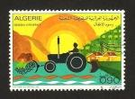 Sellos del Mundo : Africa : Argelia : dibujado por niños, un tractor
