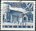Sellos de Europa - Suecia -  Iglesia sueca de Wilmington