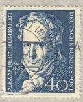 Stamps Germany -  100 aniv. nacimiento Alexander V. Humboldt