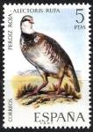 Sellos de Europa - España -  Fauna hispánica. Perdiz roja.