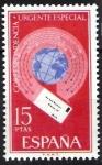 Stamps Europe - Spain -  Alegorías de correo urgente. Carta alrededor del mundo.