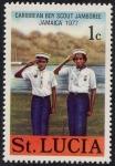 Sellos del Mundo : America : Santa_Lucía : Boy Scouts