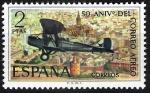 Sellos de Europa - España -  L Aniversario del correo aéreo.De Havilland