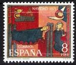 Sellos de Europa - España -  Navidad 1971. Fragmento del altar de Sant Andreu de Sagars.