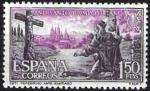 Sellos de Europa - España -  Año Santo Compostelano. Peregrino ante Santiago.