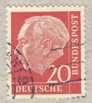 Stamps Germany -  70 anniv. Presidente Th. Heuß