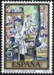 Sellos de Europa - España -  Dia del Sello. Solana.Decoradores de caretas.