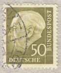 Sellos de Europa - Alemania -  70 anniv. Presidente Th. Heuß