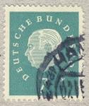 Stamps Germany -  Presidente Th. Heuß