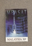 Sellos de Asia - Malasia -  Lanzamiento satélite