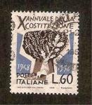 Stamps : Europe : Italy :  X anivº de La Constitución