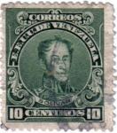 Sellos de America - Venezuela -  Bolivar. E.E.U.U. de  Venezuela