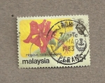 Stamps Malaysia -  Hibiscus sinensis