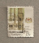 Stamps Asia - Malaysia -  Caucho ( Hevea brasiliensis)