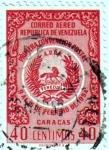 Sellos de America - Venezuela -  I convención Postal 9 al 15 de febrero de 1954. Caracas