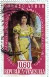 Stamps America - Venezuela -  Aniversario de la muerte de doña Luisa Cáceres de Arismendi