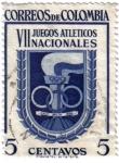 Stamps Colombia -  VII Juegos atléticos nacionales de Colombia