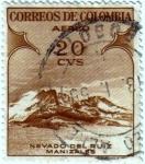 Stamps Colombia -  Nevado de Ruiz Manizales. Colombia