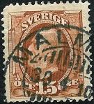 Sellos de Europa - Suecia -  Efigie de Oscar II