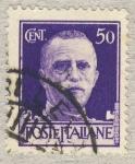 Sellos de Europa - Italia -  Effigie di Vittorio Emanuele III di fronte