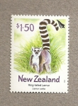 Stamps New Zealand -  Lemur de cola anillada