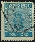 Stamps Sweden -  Escudo valor en ÖRE