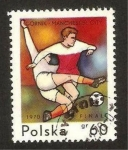 Stamps : Europe : Poland :  1858 - Europeo de fútbol, final Gornik y Manchester City