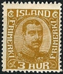 Stamps Iceland -  Christian X