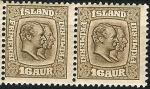 Stamps Iceland -  Federico VIII y Cristian IX