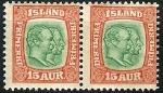 Stamps Europe - Iceland -  Filigrana líneas onduladas oblícuas