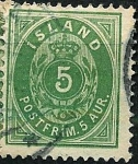 Stamps Europe - Iceland -  Tipo de 1876
