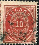 Stamps Iceland -  Tipo de 1873