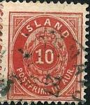 Sellos de Europa - Islandia -  Tipo de 1873