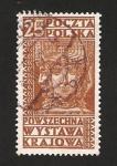 Stamps : Europe : Poland :  swiatowid, dios de la guerra