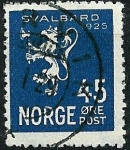 Stamps Norway -  León e inscripción