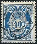 Stamps Norway -  Corneta del correo