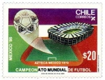Stamps of the world : Chile :  campeonato mundial de futbol Mexico 86