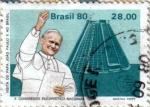 Stamps America - Brazil -  Visita del Papa Juan Pablo II a Brasil.