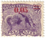 Sellos del Mundo : America : Guayana_Francesa : Flora y fauna de la Guayana Francesa.