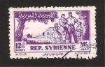 Stamps : Asia : Syria :  la familia en el campo