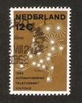 Stamps Netherlands -  752 - Mapa de la red telefónica