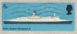 Stamps United Kingdom -  RMS Queen Elizabeth 2