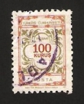 Stamps : Asia : Turkey :  122 - Cifra